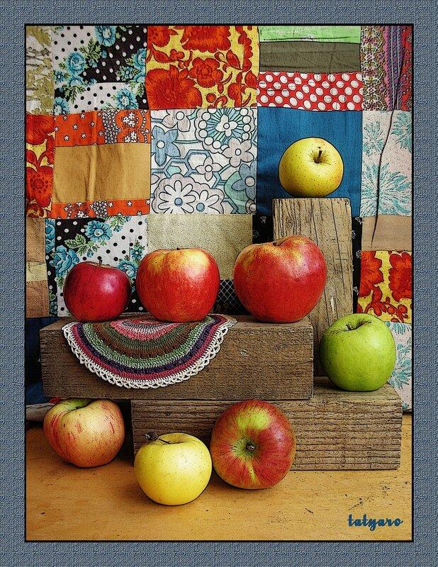 Натюрморт с яблоками. Часть 2