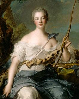 Jean-Marc Nattier (1685-1766)Jeanne-Antoinette Poisson, Marquise de Pompadour (1722-1764) as Diana