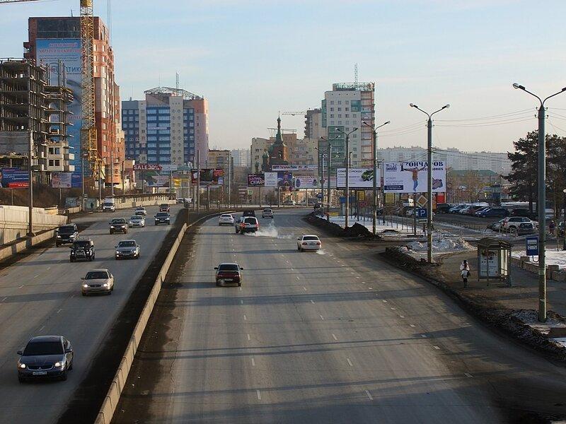 Челябинск, за рекой Миасс.