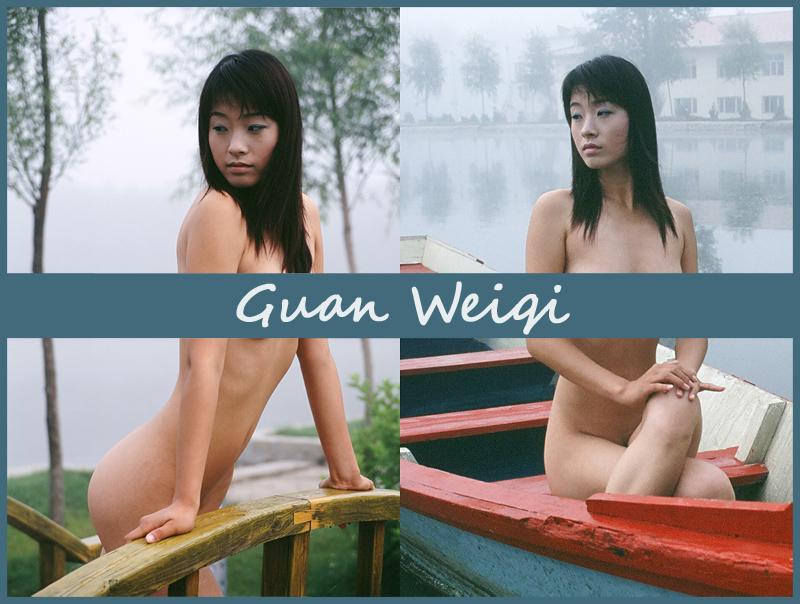 Китаянка Guan Weiqi туманным утром