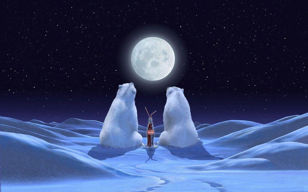 Новый год - праздник,зима,новый год,снег,кока-кола,coca-cola,polar bear...