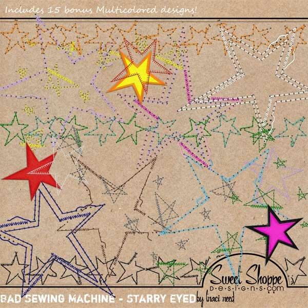 Клипарт Прошивки - круги и звезды