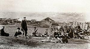 Шатерники - цивилни занаятчии, изработващи шатри за лагеруване на войската, село Горна Студена 1877 г.
