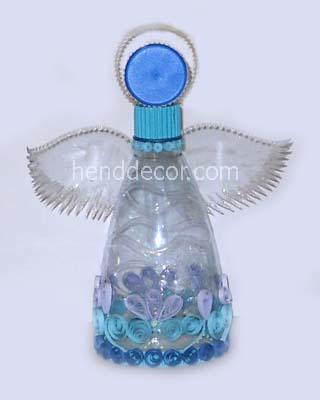 Как сделать ангелочка своими руками из бутылки