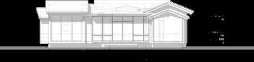 терраса, остекленная на даче, патио с спиртовым  камином жилой дом Фасад в осях 1-5 Project5
