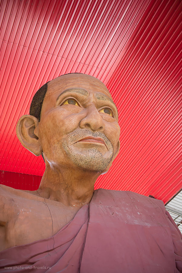 Фото 21. У статуи Великий Ушастик растет настоящая щетина. Как мы летали на отдых в Таиланд из Екатеринбурга. Тур на автомобиле по Северному и Центральном Таиланду.