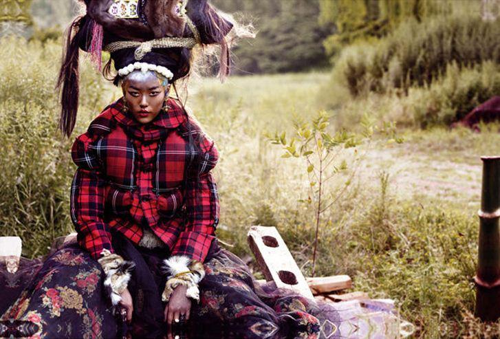 модель Лю Вен / Liu Wen, фотограф Thomas Schenk