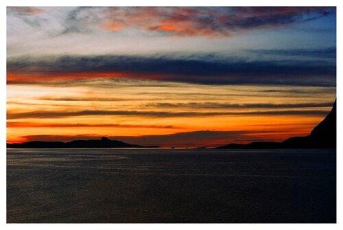 Закат на Атлантике. Последний паром.
