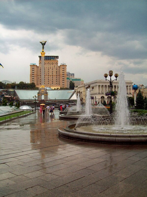 Дождь на Майдане