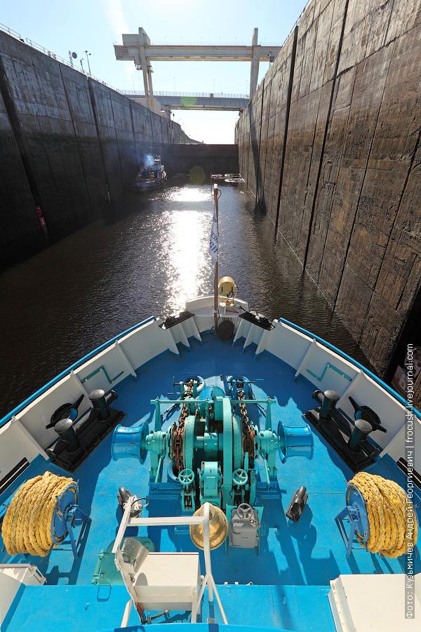 Волга шлюз