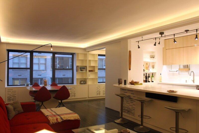 Маленькая, но технологичная квартира в Нью-Йорке