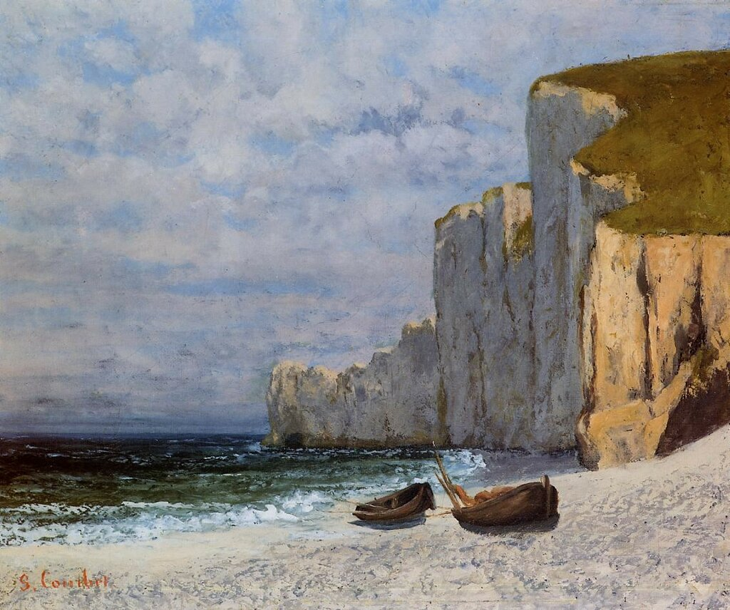 Гюстав Курбе: Залив и отвесные скалы берега