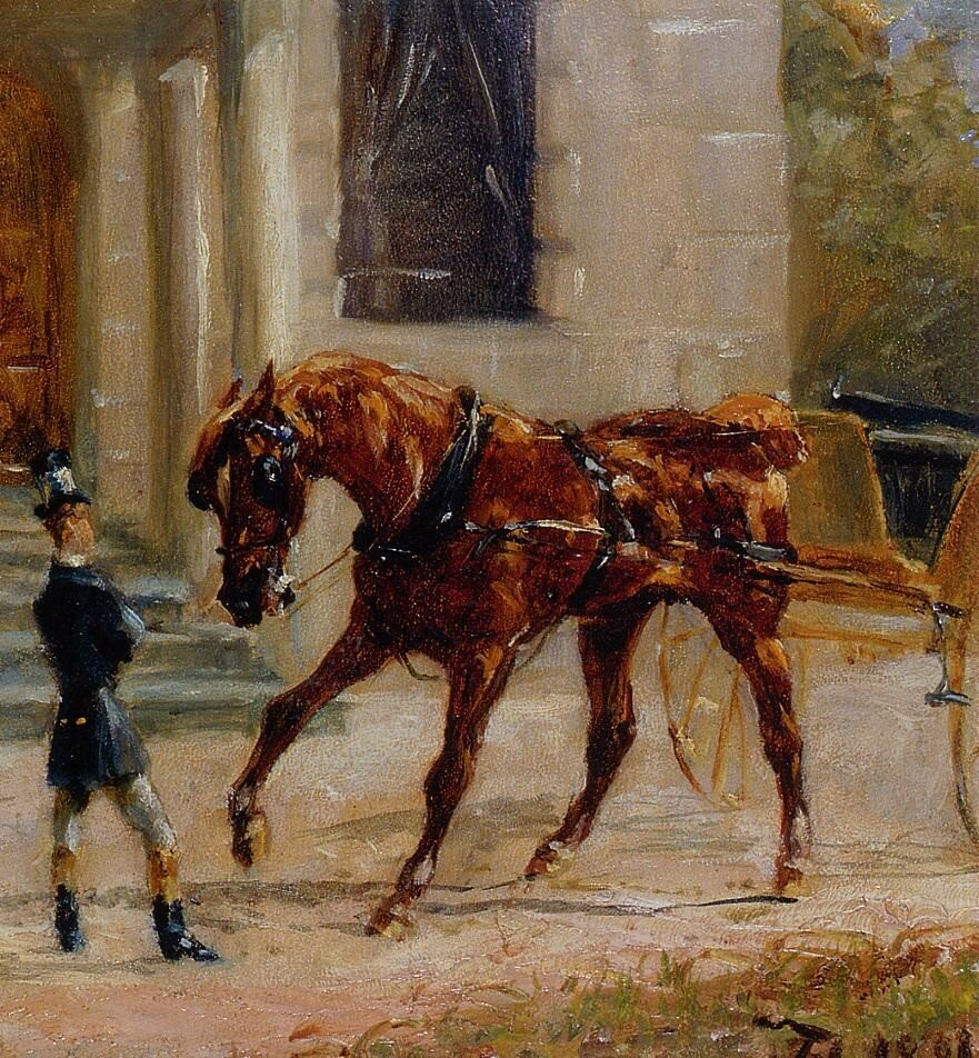 Equipage au Bosc - 1881 - PC - Painting - oil on board.jpg