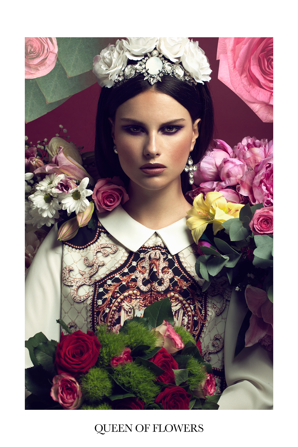 "Queen of Flowers for Lucy""s Magazine"