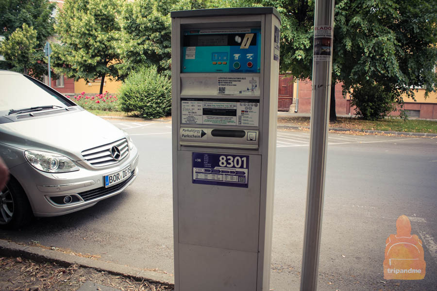 Оплата парковки в Шиофоке