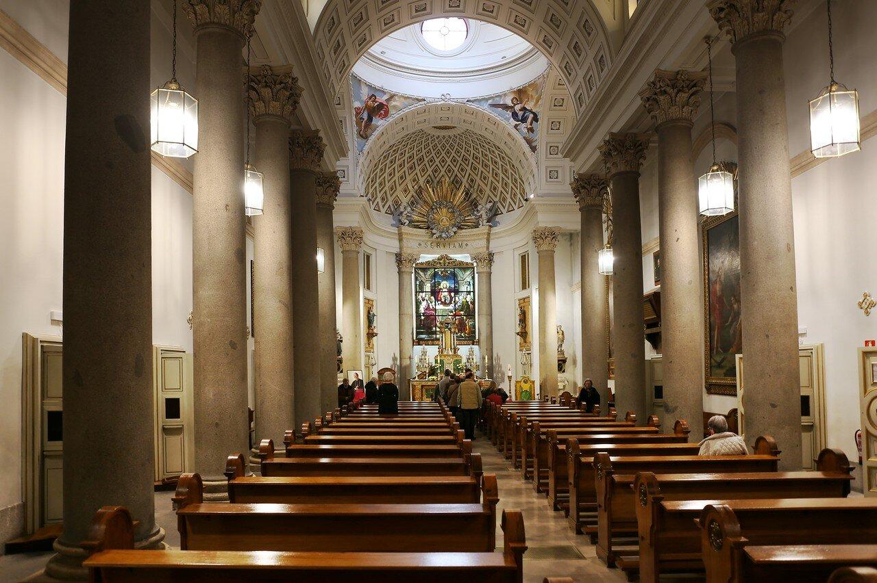 Мадрид. Оратория Кабальеро де Грасиа (Oratorio del Caballero de Gracia). Интерьеры