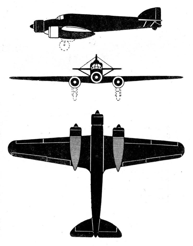Силуэты итальянских самолетов (1939) 015