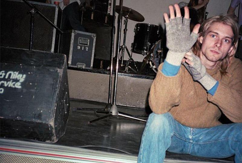 Курт Кобейн в Piper Club, Рим, 1989.