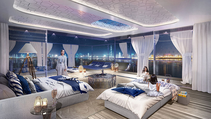 Морские виллы Seahorse с подводными комнатами в Дубае