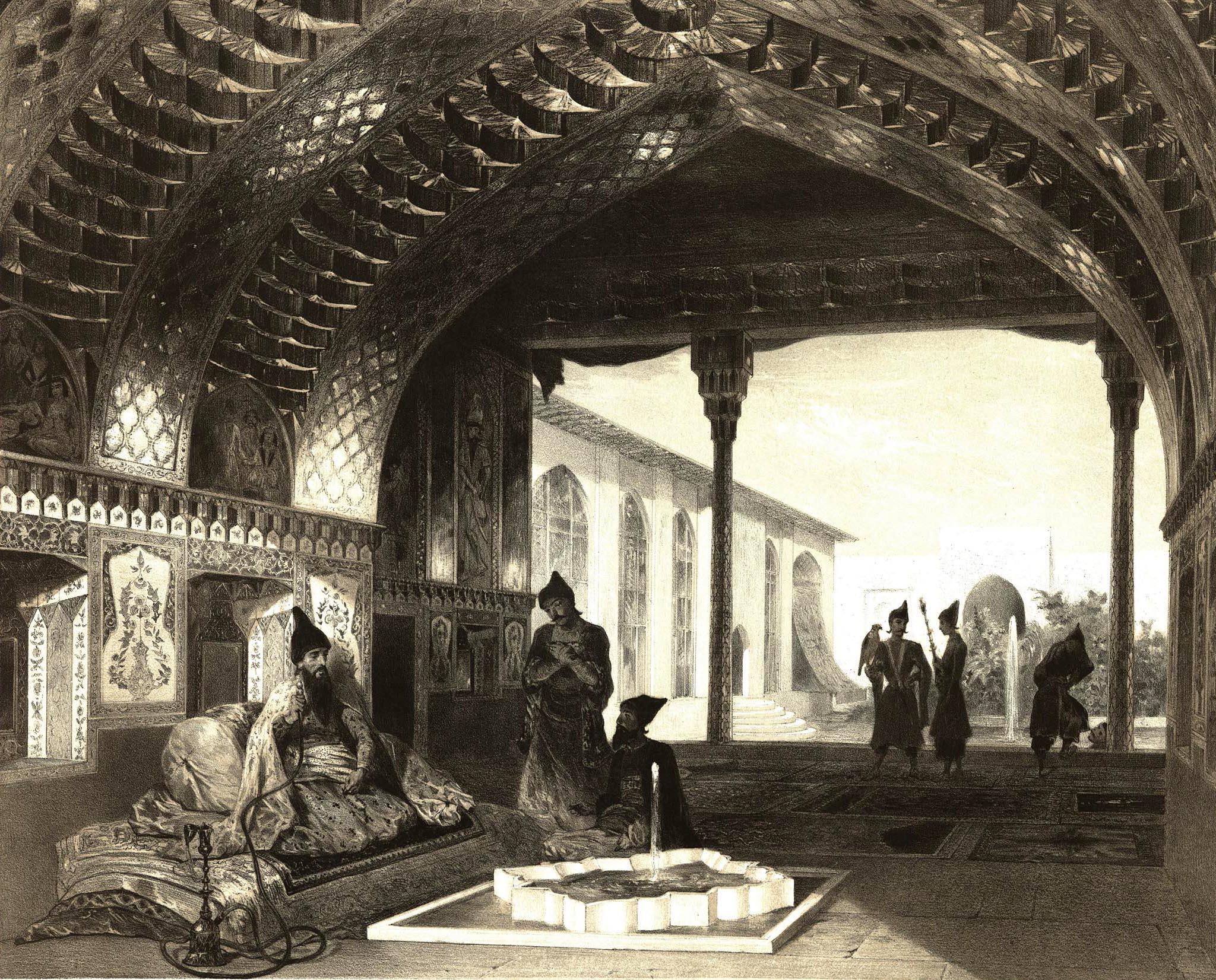 17. Armenie. Salle des Miroirs dans le palais du sardar D'Erivan /Армения. Зеркальный зал во Дворце сардара Эривани
