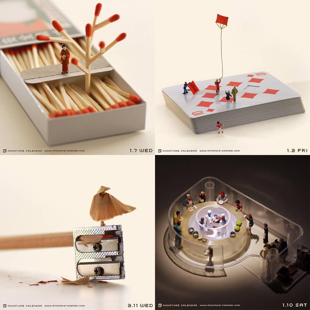 Highlights from Artist Tatsuya Tanaka's Daily Miniature Photo Project