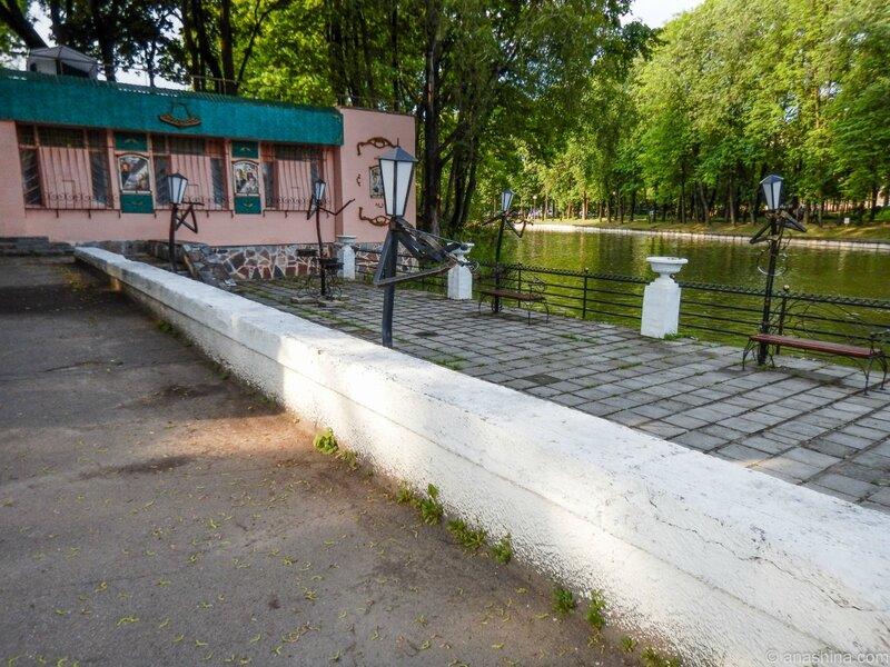 Набережная около пруда, Лопатинский сад, Смоленск