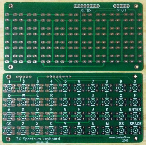 Плата мини-клавиатуры для спектрум-совместимых компьютеров