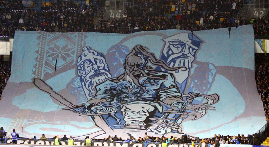 Soccer tifos / Гигантские баннеры футбольных болельщиков со со стадионов по всему миру - Динамо Киев