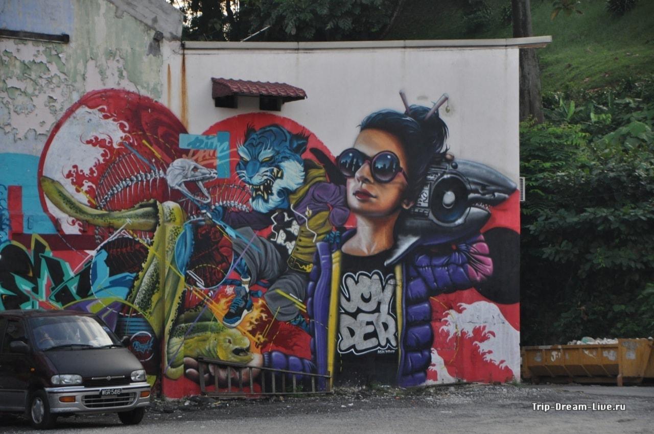 Граффити на улицах Чайнатауна