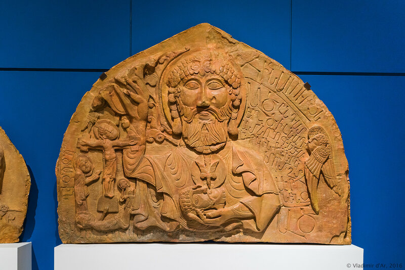 Тимпан с рельефным изображением Бога Отца. Амагу, Нораванк. Конец XIII – начало XIV века. Гипс.