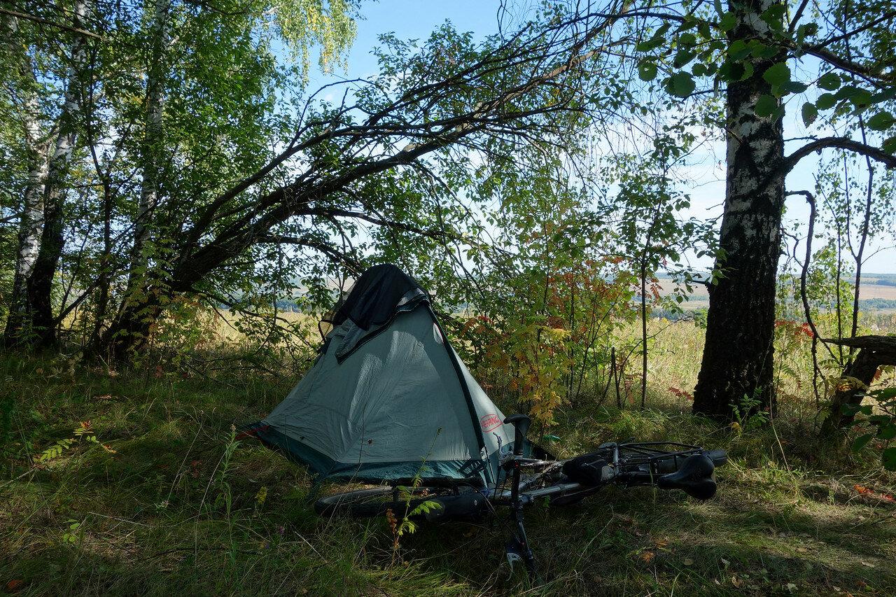 привал-ночевка №6 в лесополосе выше реки Упа
