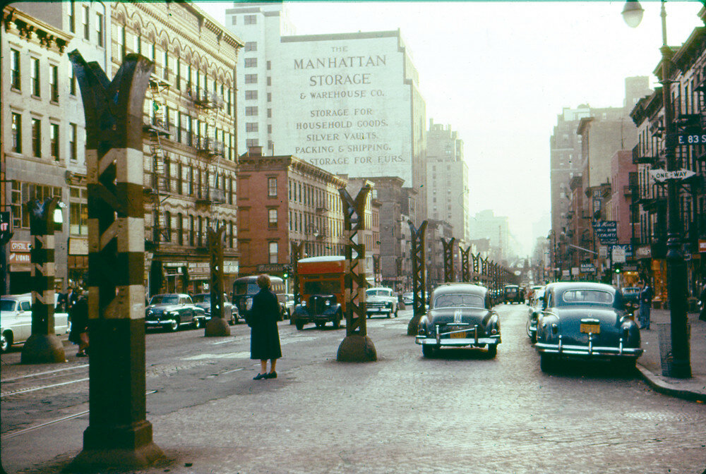 NY Only the pillars remain, looking south from 83rd Street, fall, 1955.jpg