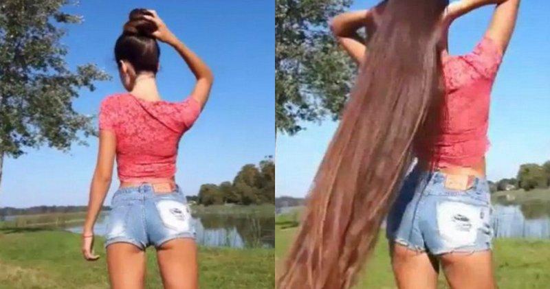 Соблазнительный тренд в Instagram: девушки распускают свои шикарные длинные волосы