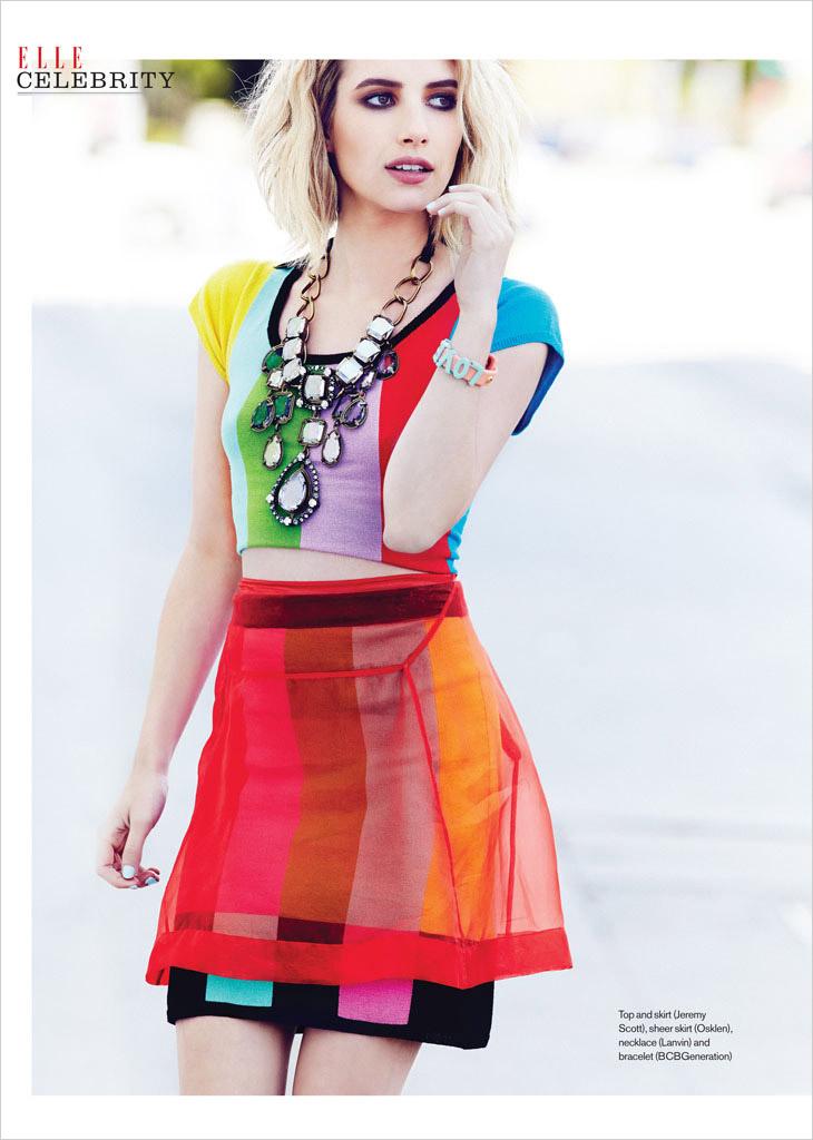 Эмма Робертс украсила обложку июньского  номера журнала Elle Canada 2014
