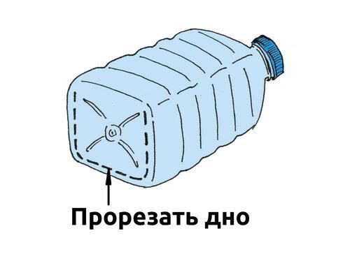 Пятилитровая бутылка с прорезанным дном