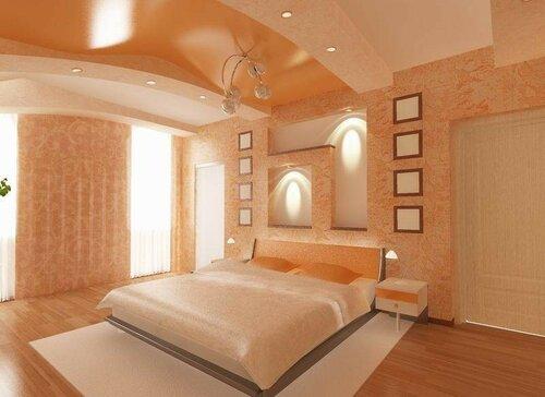 Спальня в теплых пастельных тонах - атмосфера гармонии и покоя в вашем доме