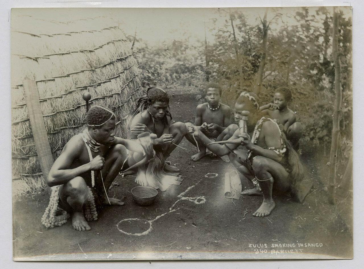 1900. Курящие зулусы