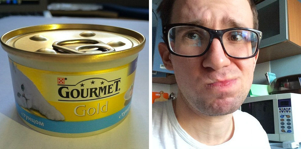 кошачий корм GOURMET на вкус