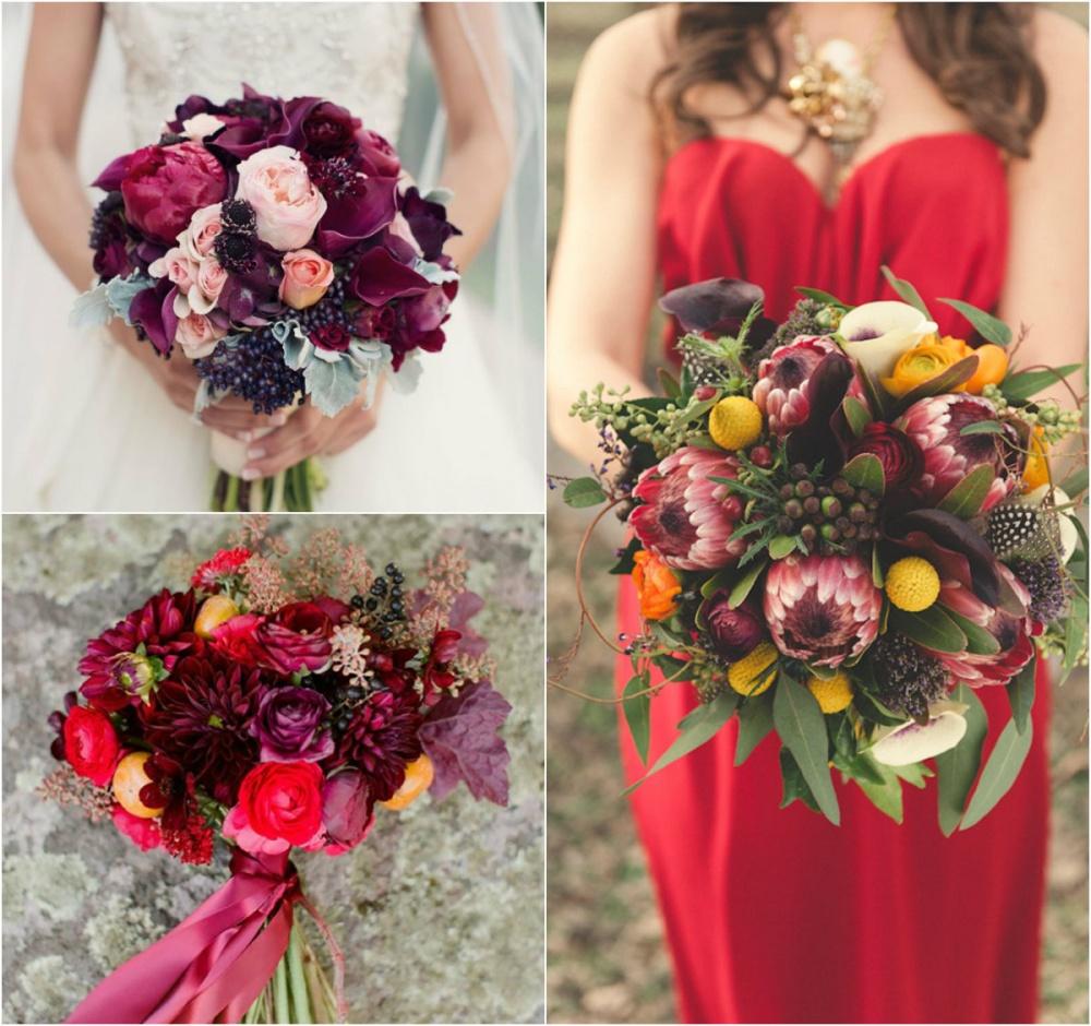 Букет невесты осенний