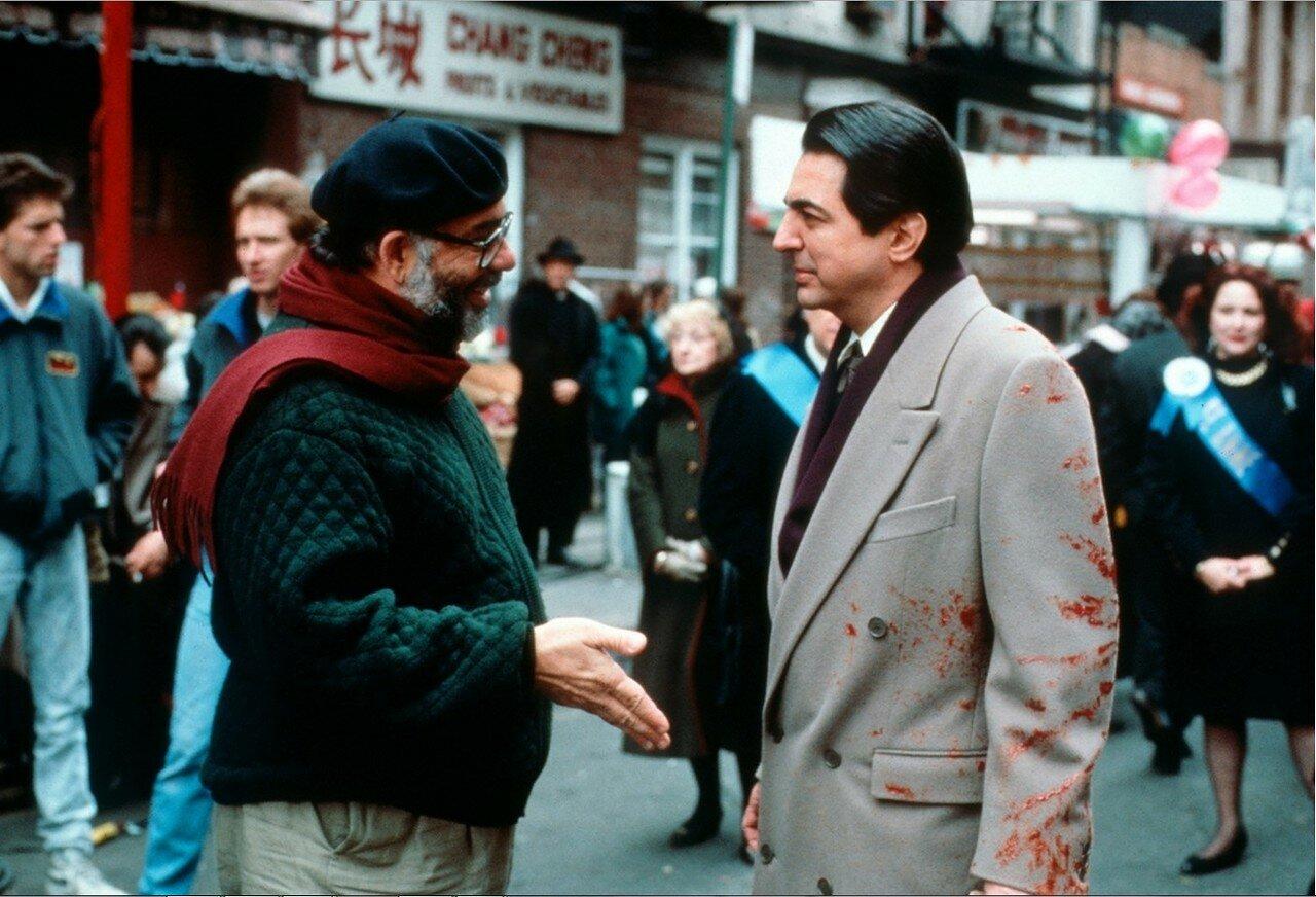 1990. Френсис Форд Коппола и Джо Мантенья в разгар съемок  «Крёстного отца 3»