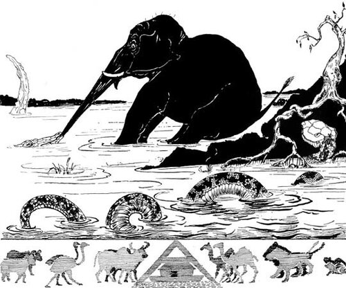 Rudyard Kipling's illustration for The Elephant's Child from …
