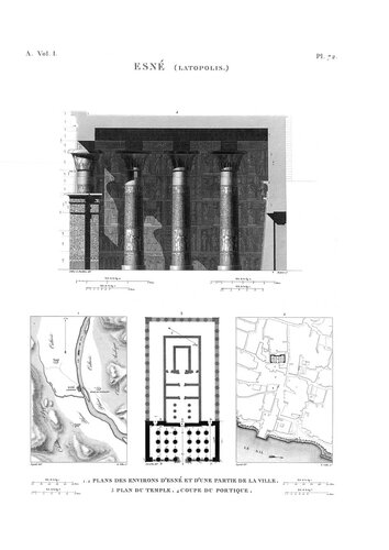 Храм бога Хнума в Эсну, чертежи