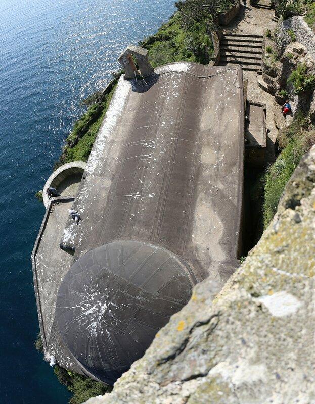 Ischia, the Aragonese castle. The Church of Santa Mria delle Grazie,