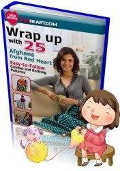 Книга Wrap up with Afghans from Red Heart (Вяжем афганы от Ред Хеарт) + видео-бонус