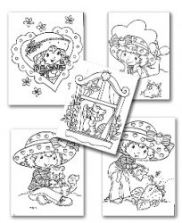 Книга Strawberry Shortcake Coloring Pages