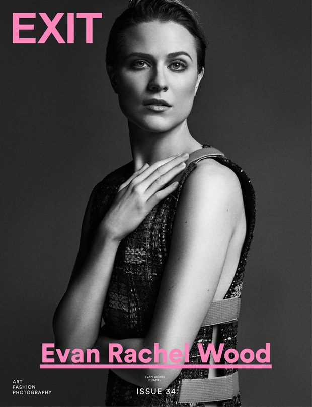 Westworld Star Evan Rachel Wood is the Cover Girl of Exit Magazine