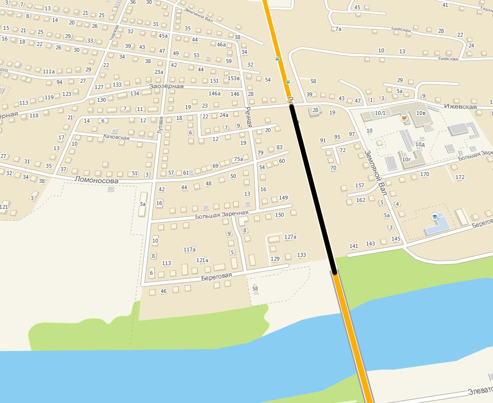 Спуск с моста Челюскинцев - движение только по одной полосе 2