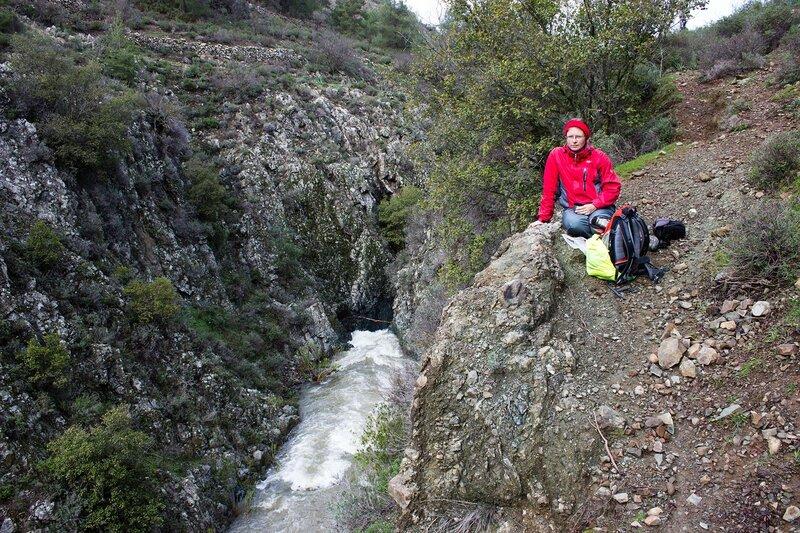 река в каньоне на Кипре