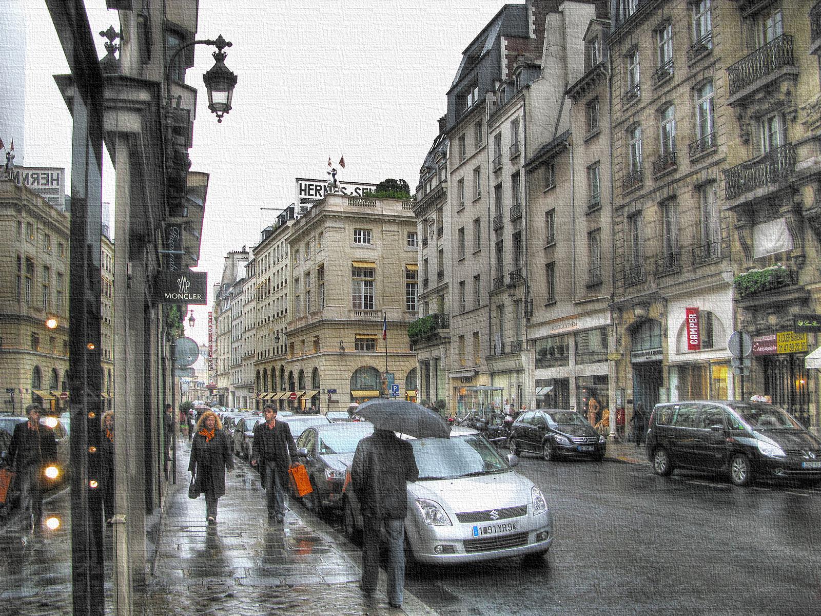 Дождливые будни Парижа
