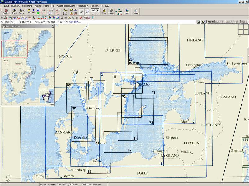 Шведские навигационные карты Балтики